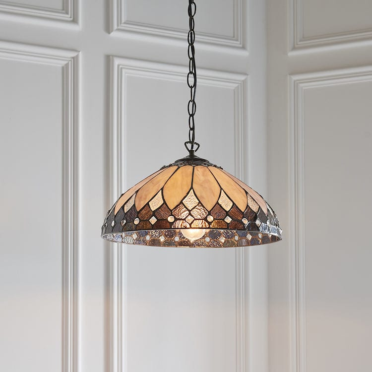 Brooklyn Medium Tiffany Ceiling Light,single bulb fitting 63977