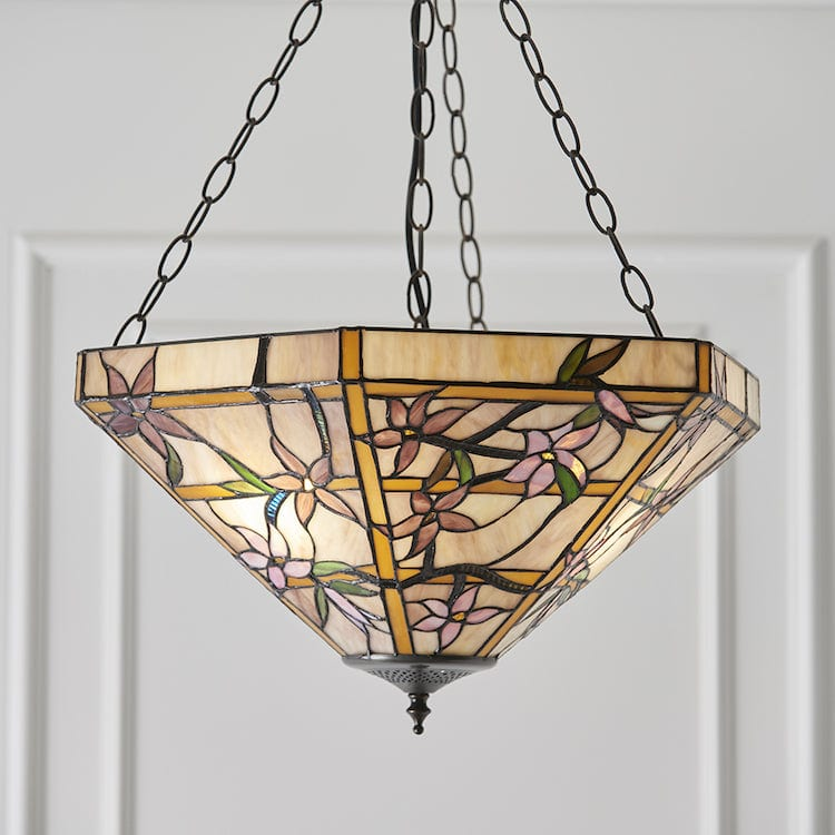 Inverted Ceiling Pendant Lights - Clematis Large 3 Light Inverted Pendant Light 64019