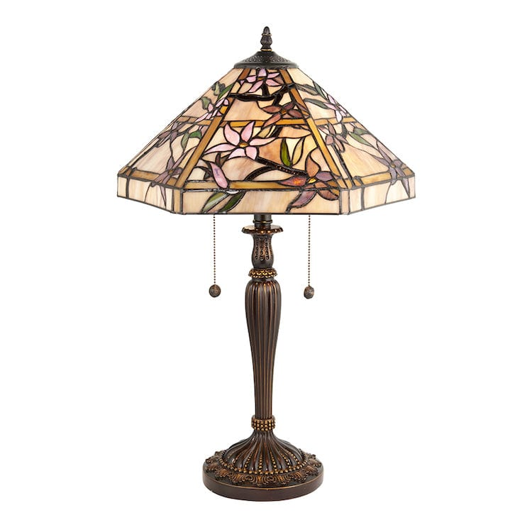 Large Tiffany Lamps - Clematis  Tiffany Lamp 64021