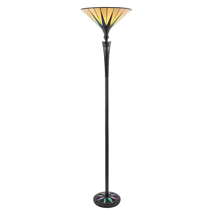 Dark Star Uplighter Tiffany Floor Lamp 64042