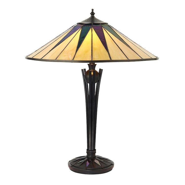 Large Tiffany Lamps - Dark Star Large Tiffany 2 Light Table Lamp 64045