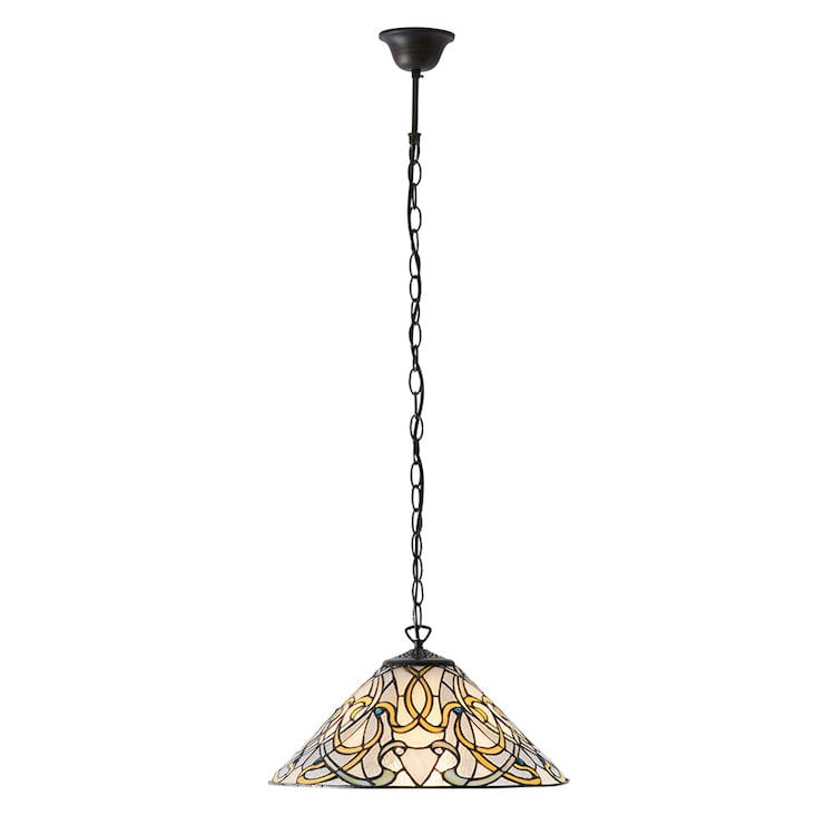 Tiffany Ceiling Pendant Lights - Dauphine Tiffany Ceiling Light 1 Bulb Fitting
