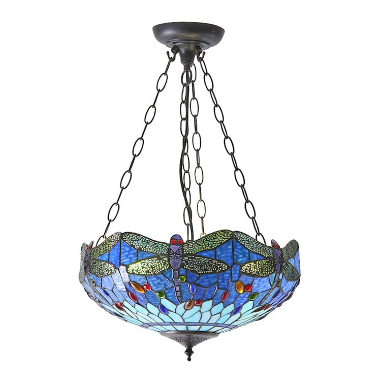 Inverted Ceiling Pendant Lights - Blue Dragonfly Medium Inverted Ceiling Light 64075