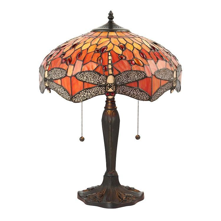 Large Tiffany Lamps - Flame Dragonfly  Tiffany Lamp 64093