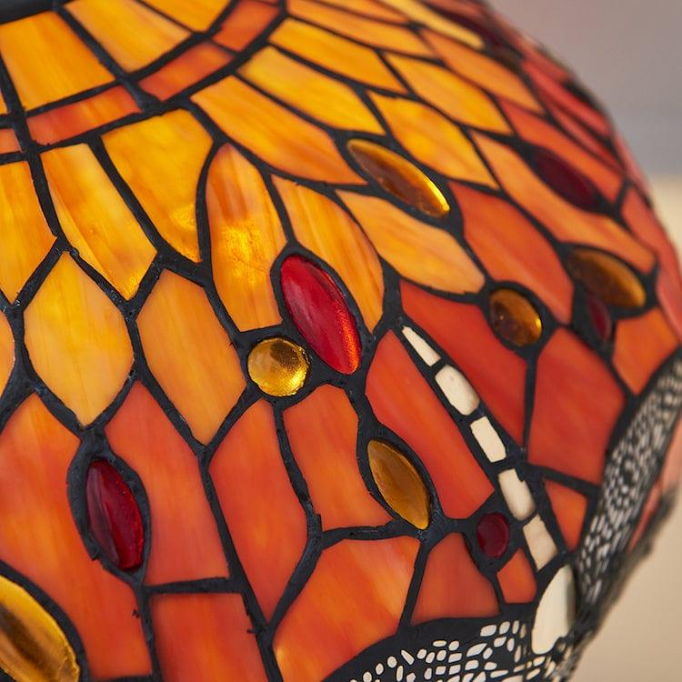 Flame Dragonfly Tiffany Lamp 64093