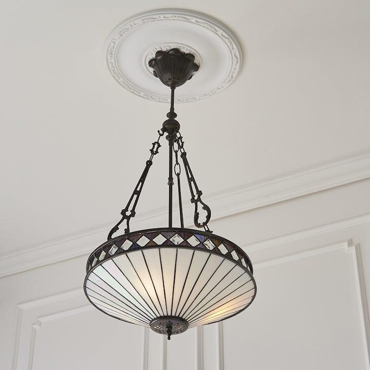 Fargo Medium Inverted Tiffany Ceiling Light