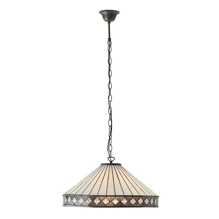 Tiffany Ceiling Pendant Lights - Fargo Tiffany Ceiling Light 64147 1 Bulb Fitting