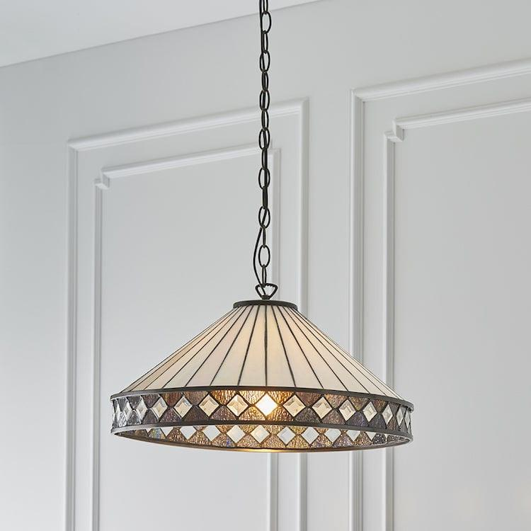 Fargo Large Tiffany Ceiling Light 64147 1 bulb fitting