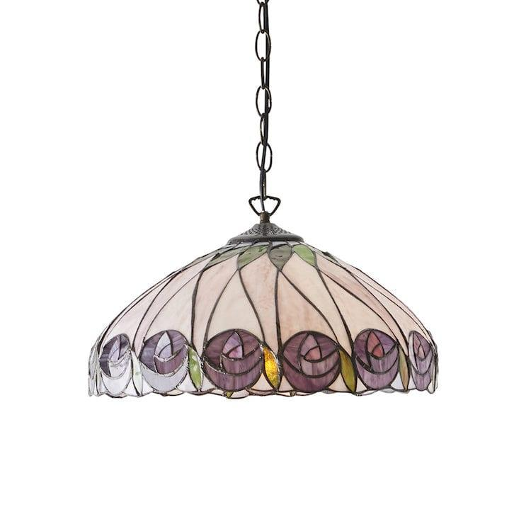 Tiffany Ceiling Pendant Lights - Hutchinson Medium Tiffany 1 Light Ceiling Pendant Light 64176