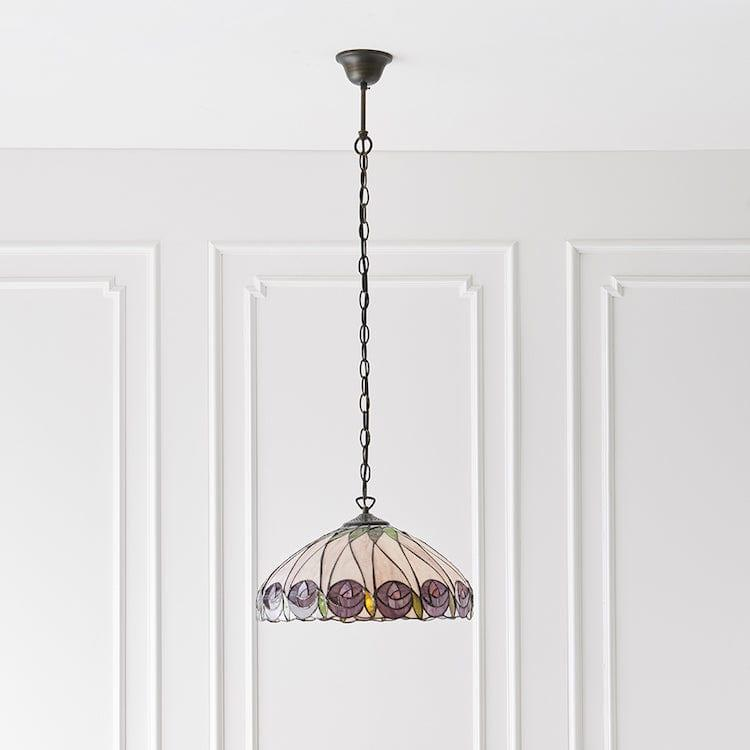 Hutchinson Medium Tiffany Ceiling Light,single bulb fitting
