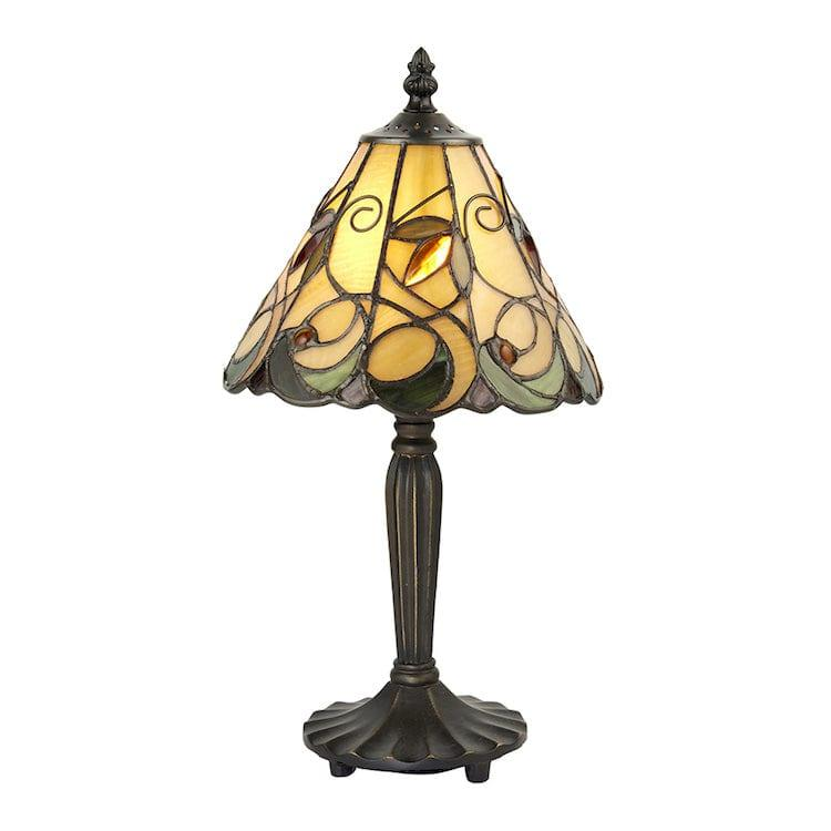 Tiffany Bedside Lamps - Jamelia Intermediate Tiffany Table Lamp 64196