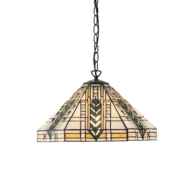Tiffany Ceiling Pendant Lights - Lloyd Medium Tiffany 1 Light Ceiling Pendant Light 64238