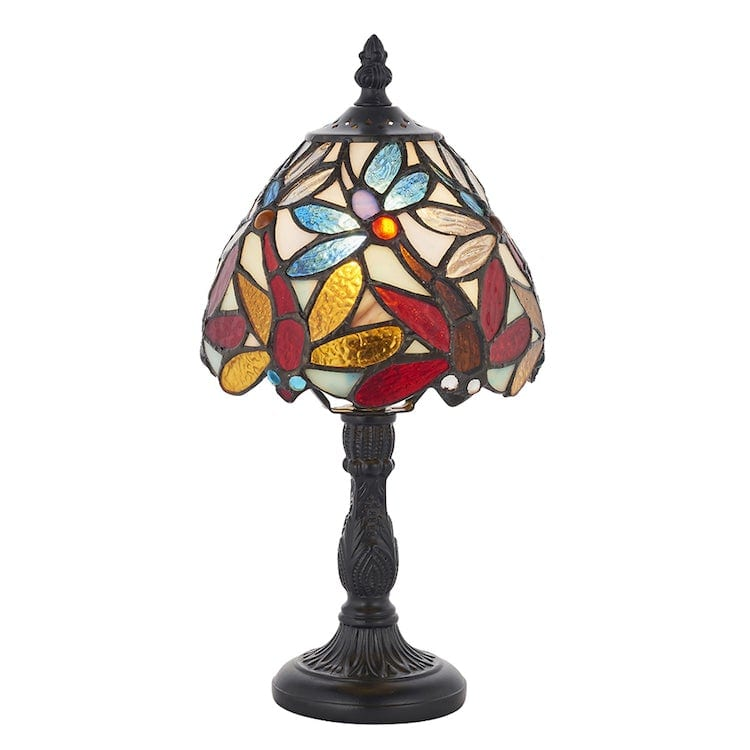 Tiffany Bedside Lamps - Lorette Tiffany Bedside Lamp 64246