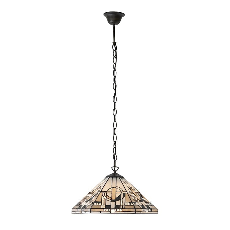 Tiffany Ceiling Pendant Lights - Metropolitan Medium Tiffany 1 Light Pendant Ceiling Light 64259