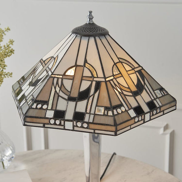 Metropolitan Tiffany Lamp with Aluminium Base 64260