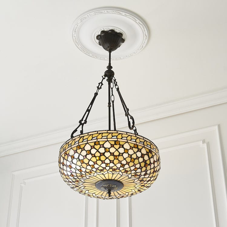 Inverted Ceiling Pendant Lights - Mille Feux Large 3 Light Inverted Ceiling Pendant Light 64277