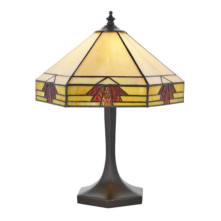 Tiffany Bedside Lamps - Nevada Small Tiffany Table Lamp 64287