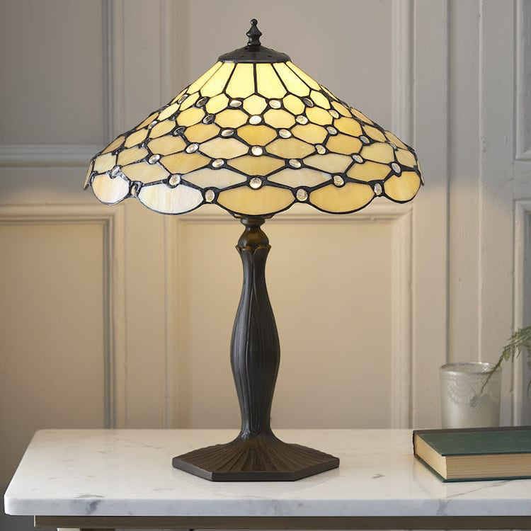 Large Tiffany Lamps - Pearl  Tiffany Lamp 64301