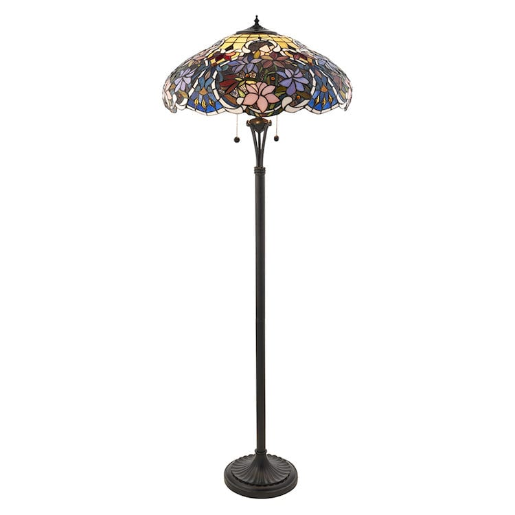 Tiffany Floor Lamps - Sullivan Tiffany Floor Lamp 64323
