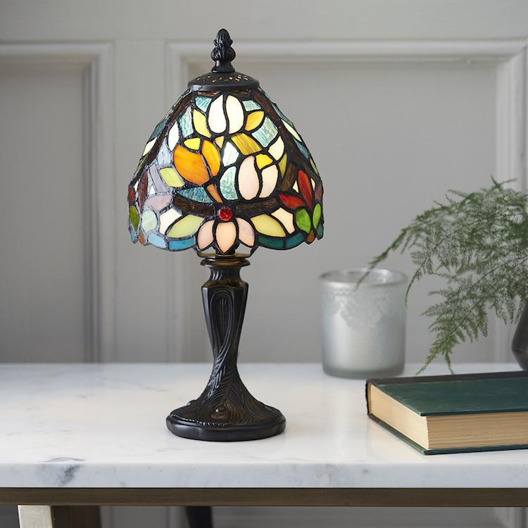 Tiffany Bedside Lamps - Sylvette Mini Tiffany Table Lamp 64331