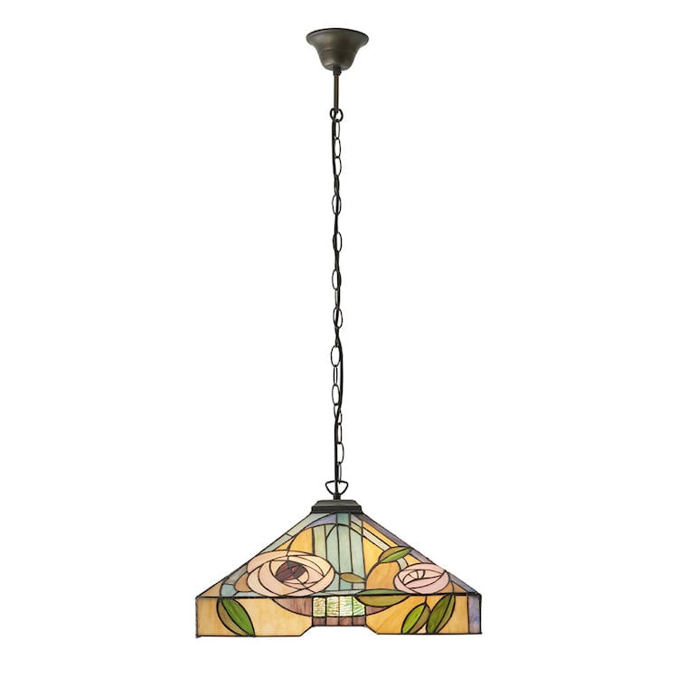 Tiffany Ceiling Pendant Lights - Willow Large Tiffany Ceiling Pendant Light,Adjustable Chain,3 Bulb Fitting 64384