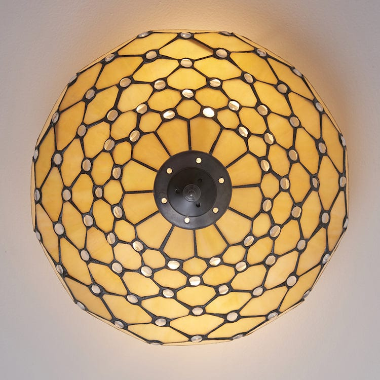Pearl Medium Flush Tiffany Ceiling Light