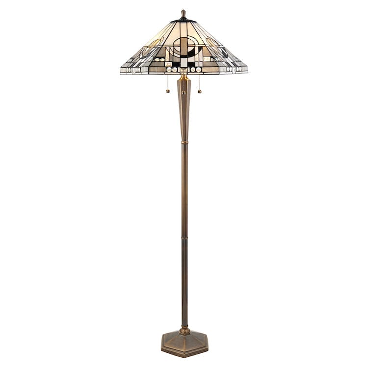 Tiffany Floor Lamps - Metropolitan Tiffany Floor Lamp With Brass Base 70662