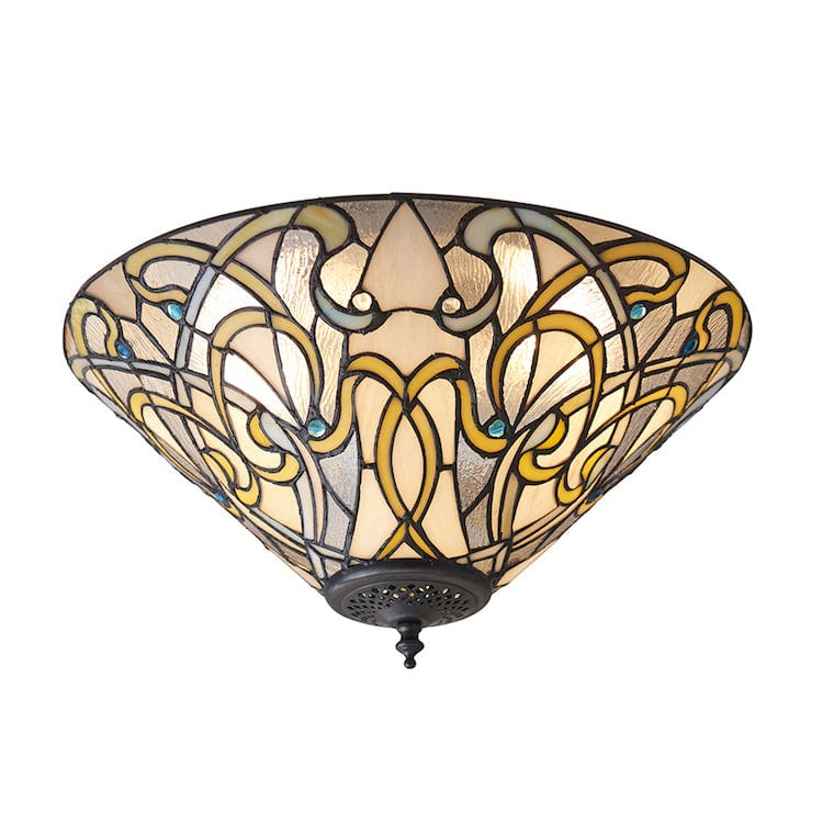 Tiffany Inverted Ceiling Pendant Lights - Dauphine Tiffany Flush Ceiling Light 70700