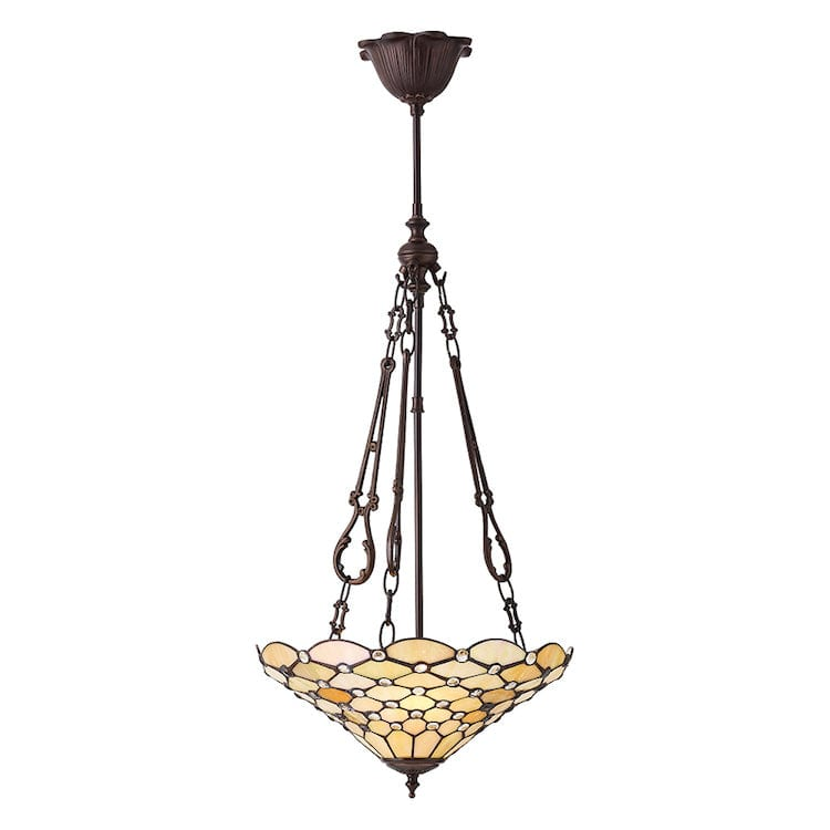 Inverted Ceiling Pendant Lights - Pearl Medium 3 Light Inverted Pendant Ceiling Light 70743