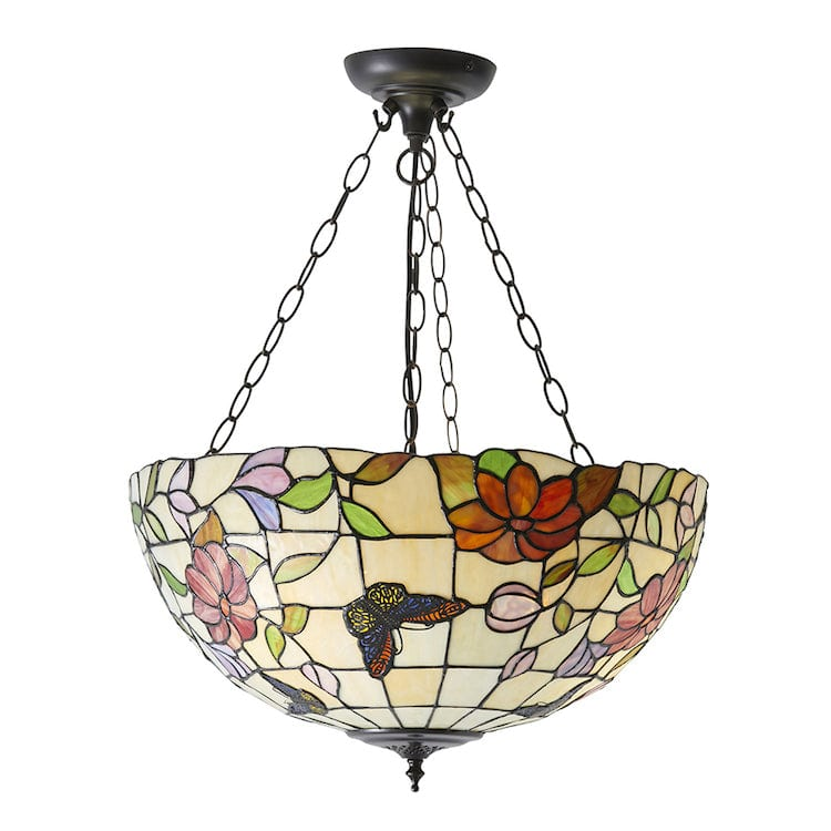 Inverted Ceiling Pendant Lights - Butterfly Large 3 Light Inverted Pendant Ceiling Light 70746
