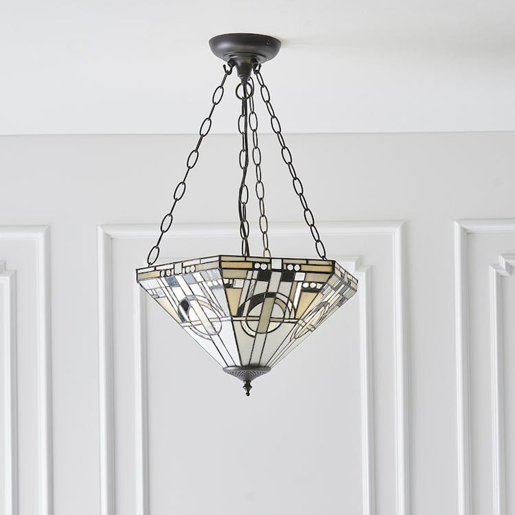 Metropolitan Medium Inverted Tiffany Ceiling Light