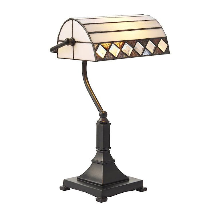 Medium Tiffany Lamps - Fargo Tiffany Bankers Lamp 70908
