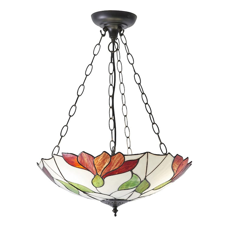 Inverted Ceiling Pendant Lights - Botanica 3 Light Inverted Pendant Ceiling Light 70946