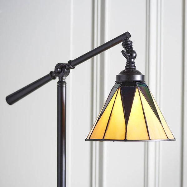 Dark Star Task Tiffany Floor Lamp 74355