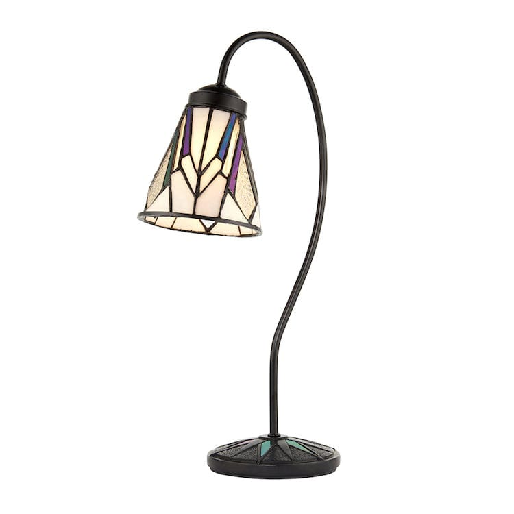 Medium Tiffany Lamps - Astoria Tiffany Swan Neck Lamp 74364