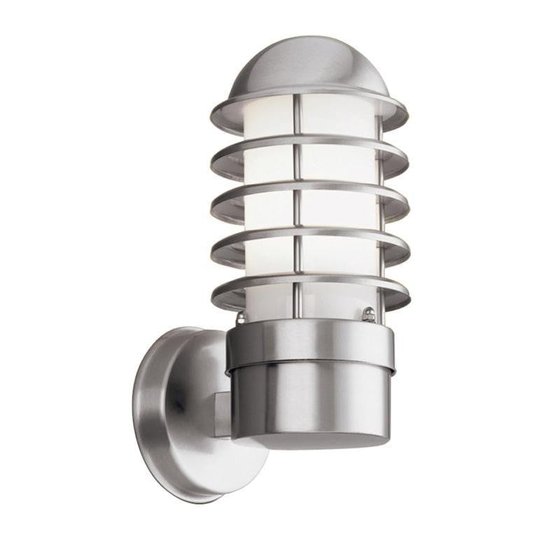 Searchlight Louvre Stainless Steel Outdoor Wall Light 051 by Searchlight Outdoor Lighting