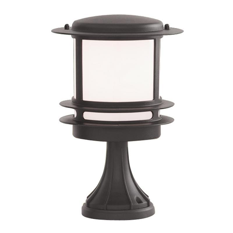 Searchlight Stroud Black Outdoor Pedestal Light by Searchlight Outdoor Lighting