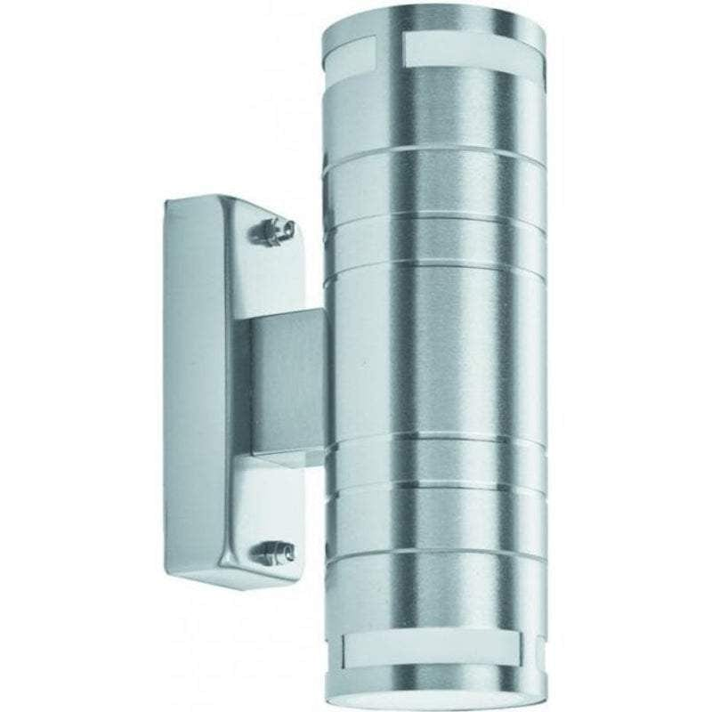 Searchlight Stainless Steel Up/Downlighter LED Outdoor Wall Light 2018-2-LED by Searchlight Outdoor Lighting