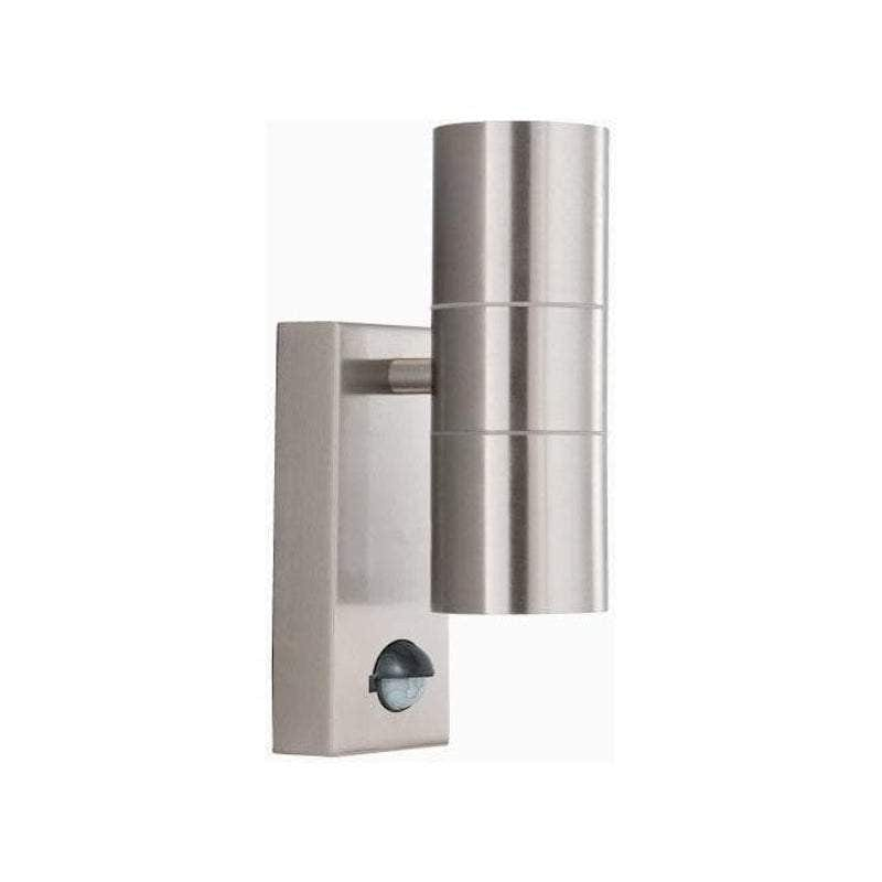 Searchlight Stainless Steel Up/Downlighter LED Outdoor PIR Wall Light by Searchlight Outdoor Lighting