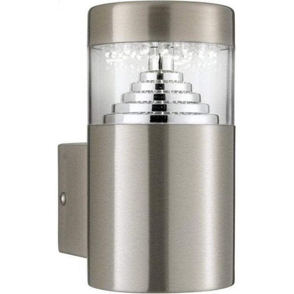 Searchlight Brooklyn Stainless Steel Outdoor LED Wall Light by Searchlight Outdoor Lighting
