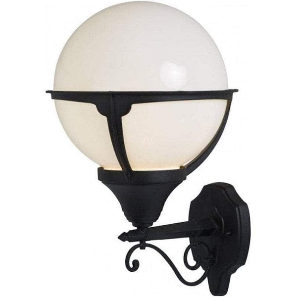 Searchlight Orb Black Outdoor Wall Light by Searchlight Outdoor Lighting