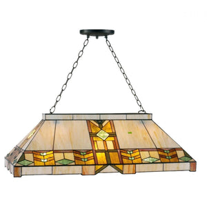 Tiffany Mega & Pool Table Ceiling Lights - Charleston Tiffany Pool Table Light