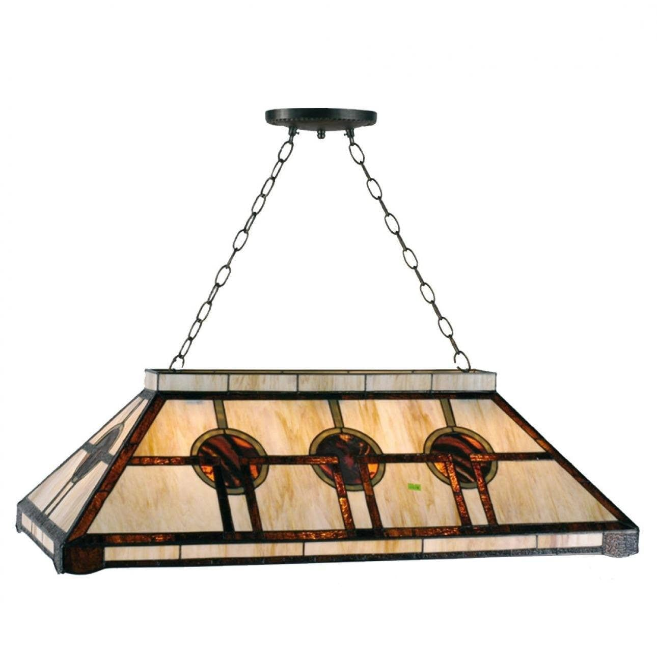 Oxford tiffany pool table light