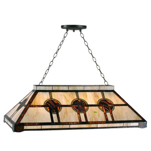 Tiffany Mega & Pool Table Ceiling Lights - Oxford Tiffany Pool Table Light