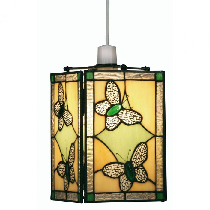 Butterfly Tiffany Green Easy Fit Non Electric Lantern OT 26 GR