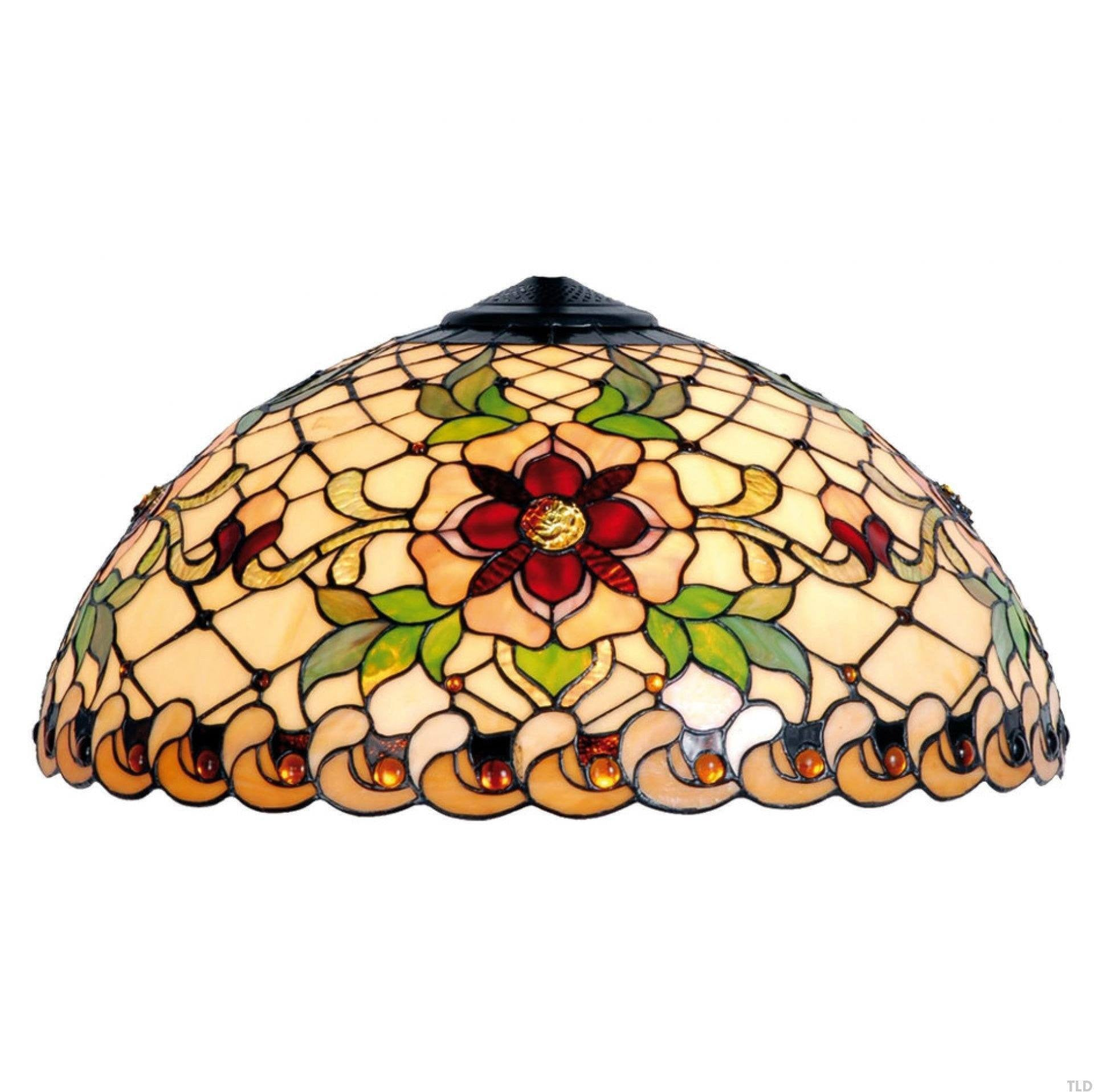 Tiffany Replacement Table Lamp Shades & Bases - Angelique Large Tiffany Replacement Table Lamp Shade