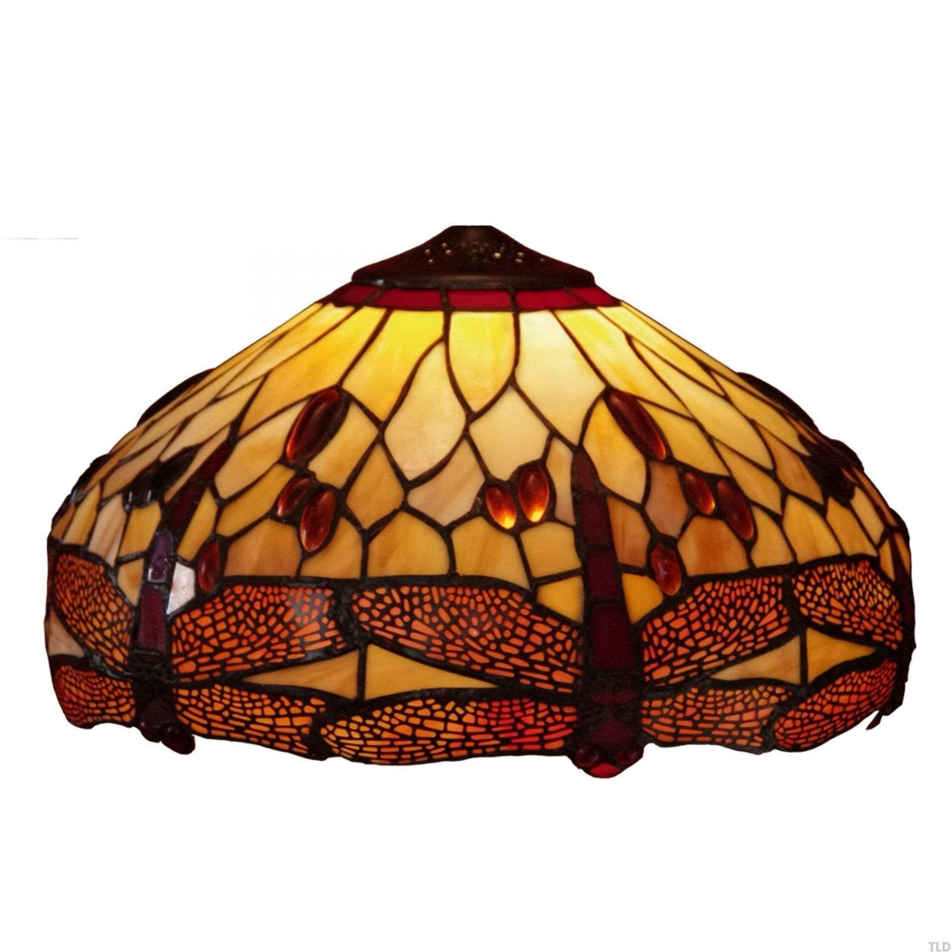 Golden Dragonfly Large Tiffany Replacement Table Lamp Shade