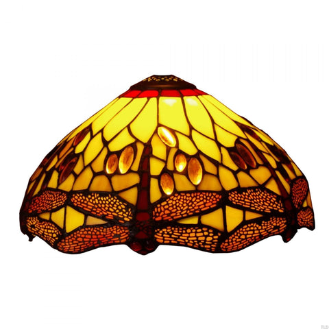 Tiffany Replacement Table Lamp Shades & Bases - Golden Dragonfly Medium Tiffany Replacement Table Lamp Shade