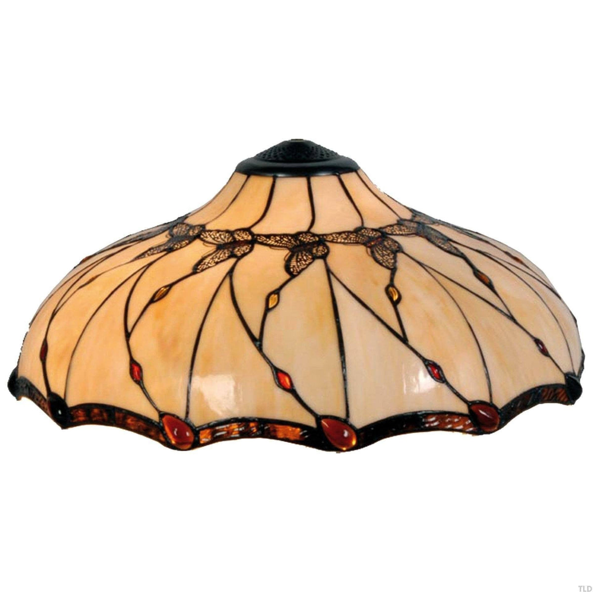 Tiffany Replacement Table Lamp Shades & Bases - Papillon Large Tiffany Replacement Lamp Shade