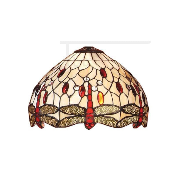 Tiffany Replacement Table Lamp Shades - Beige Dragonfly Small Tiffany Replacement Shade